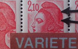R1337/599 - 1984 - TYPE LIBERTE DE DELACROIX - N°2319 BLOC NEUF** BdF CD - VARIETE ➤➤➤ Griffe Verticale Sur Le Bonnet - Variétés: 1980-89 Neufs