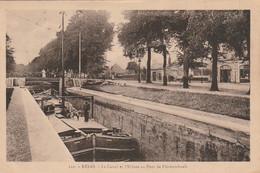 SO 16-(51) REIMS - LE CANAL ET L' ECLUSE AU PONT DE FLECHAMBAULT - PENICHE - 2 SCANS - Reims