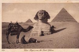 Egypte 1920 Le Caire / Cairo Prière Devant Le Grand Sphinx - Sphinx