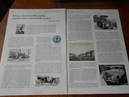 Article  Marius Berliet Constructeur Automobile Lyon 69 Revue Genealogie Et Histoire 171 - Auto/Moto