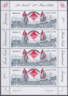 Feuille De 4 TP Neufs ** N° 2198(Yvert) Monaco 1999 - Equitation, Jumping International - Nuevos