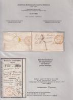 DDY 486 -  Lettre Non Affranchie Avec Contenu  LOUVAIN 1855 Vers Le Notaire Dierckx , Burgemeester - Talon De Versement - Altri