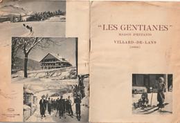 38 VILLARD De LANS Fascicule Les GENTIANES  Maison D'ENFANTS 8 Pages - Dépliants Turistici