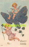 CPA EN RELIEF GAUFREE FILLE  ENFANT EMBOSSED CARD GIRL  ANGE ANGEL - Kinder-Zeichnungen