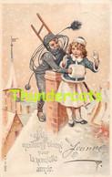 CPA EN RELIEF GAUFREE ENFANT RAMONEUR EMBOSSED CARD CHILD CHIMNEY SWEEPER - Kinder-Zeichnungen
