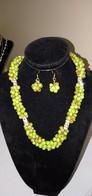 COLLIER CRISTAL AVEC BOUCLE D'OREILLE  POUR FEMME VERRE - Necklaces/Chains