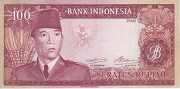 BILLETE DE INDONESIA DE 100 RUPIAH AÑO 1960 (BANKNOTE) - Indonesia