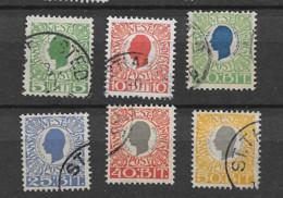 1905 USED Dänisch-West Indien, Facit 32-37 - Dänemark (Antillen)