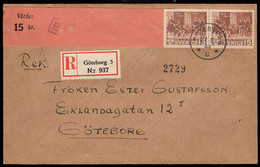 Sweden (1941) Registered Letter With Gustav Vasas Bibel Label Tape. - Sonstige