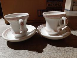 Ancien Lot 2  Tasses Anciennes  Brulot Bistrot Tasse  Porcelaine De Paris - Cups