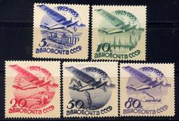 RUSSIE - A41/45** - AVION EN VOL - Unused Stamps