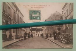 CPA - VILLENEUVE SUR BELLOT - Rue Des Entrepreneurs - Sonstige Gemeinden