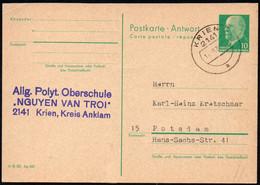 C1527 - Krien Allg. Polyt. Oberschule - Ganzsache - Firmenpost - Postales - Usados