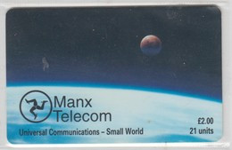 ISLE OF MAN 1997 UNIVERSAL COMMUNICATIONS SMALL WORLD SPACE - Isla De Man