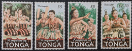 Tonga, 2001, Michel 1591-1594, Traditional Dances, 4v, MNH - Danza