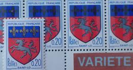 R1337/609 - 1966 - BLASON DE SAINT-LO - N°1510 + 1510i NEUFS** - VARIETE ➤➤➤ LYS NOIRS Et OR - Cote (2020) : 192,00 € - Variétés: 1960-69 Neufs