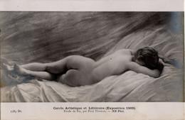 Etude De Nu Par Paul THOMAS - Cercle Artistique Et Littéraire (Exposition 1909) - Femme - Unclassified
