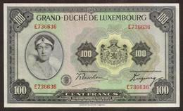LUXEMBOURG. 100 Francs (1934). Pick 39. UNC - Lussemburgo