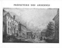 08 - CHARLEVILLE-MEZIERES - PLACE D'ARMES De La PREFECTURE Vers 1850 - AUTOGRAPHE DU PREFET Robert HAYEM - CARTE DOUBLE - Charleville