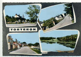 CPSM 18 - TORTERON - Multivues Rue De Commentry, Etang, Autres Rues - Sonstige Gemeinden