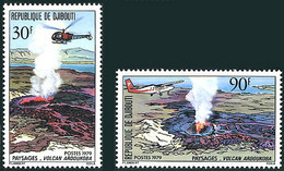 Djibouti 1979 Volcan Ardoukoba Sud-Est Alouiette II Hélicoptère Helicopter, De Havilland Canada DHC6 Twin Otter - Aerei