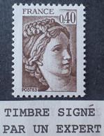 R1337/610 - 1981 - TYPE SABINE DE GANDON - N°2118a NEUF** ➤➤➤ Signé CALVES Expert - VARIETE ➤➤➤ Sans PHO - Variedades: 1980-89 Nuevos