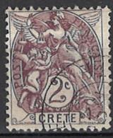 France, Colonies - Crete, Französische Post Auf Kreta, 1902/1903. Mi.Nr. 2, Used O - Used Stamps