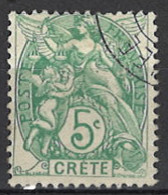 France, Colonies - Crete, Französische Post Auf Kreta, 1902/1903. Mi.Nr. 5, Used O - Used Stamps