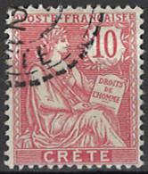 France, Colonies - Crete, Französische Post Auf Kreta, 1902/1903. Mi.Nr. 6, Used O - Oblitérés