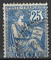 France, Colonies - Crete, Französische Post Auf Kreta, 1902/1903. Mi.Nr. 9, Used O - Oblitérés