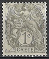 France, Colonies - Crete, Französische Post Auf Kreta, 1902/1903. Mi.Nr. 1, *, MH - Unused Stamps