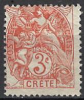 France, Colonies - Crete, Französische Post Auf Kreta, 1902/1903. Mi.Nr. 3, *, MH - Unused Stamps