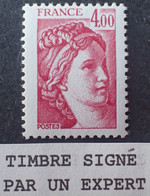 R1337/618 - 1981 - TYPE SABINE DE GANDON - N°2122a NEUF** BdF ➤➤➤ Signé SCHOLLMEYER Expert - VARIETE ➤➤➤ Sans PHO - Variedades: 1980-89 Nuevos