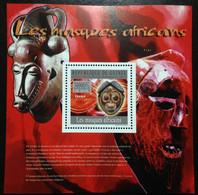 GUINEA Republic, Unused Souvenir Sheet, « MASQUES », 2010 - Guinée (1958-...)