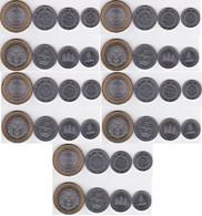 Cambodia - 5 Pcs X Set 4 Coins 50 100 200 500 Riels 1994 UNC Lemberg-Zp - Cambodia