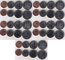 Cayman Islands - 5 Pcs X Set 4 Coins 1 5 10 25 Cents 2008 UNC Lemberg-Zp - Cayman Islands