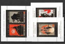Guinée Guinea Equatorial Série Complète Blocs Or Gold JO 76 ** - Verano 1976: Montréal