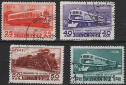 RUSSIA - 1949 Trains. Scott 1411-14. Used - Used Stamps