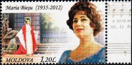 "Moldova 2012 ""Maria Bieşu (1935–2012) In Memoriam"" 1v Quality:100% - Moldawien (Moldau)"