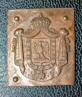 """Relique Napoléonienne ! Ebauche En Cuivre Pour Décoration Ou Insigne D'armoiries Second Empire""""  Napoléon III Bonaparte - Other"""
