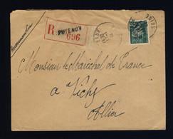 France 1944 LSC Recommandée De PUTEAUX à Vichy (adressée Au Maréchal Pétain) - 1921-1960: Periodo Moderno