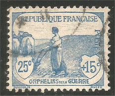 329 France YV 151 Orphelins    Guerre 25c + 15c (f3-29-468) - Used Stamps
