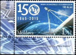 "Moldova 2015 ""150th Anniversary Of The International Telecommunications Union (ITU)"" 1v Quality:100% - Moldova"