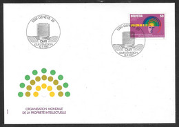 Switzerland / United Nations Geneva - 1985 OMPI Intellectual Property FDC - Cartas