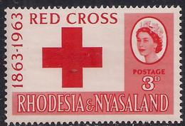 Rhodesia & Nyasaland 1963 QE2 3d Red Cross Umm SG 47 ( H1382 ) - Rhodesien & Nyasaland (1954-1963)