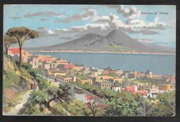 Italy - Napoli - Panorama Dal Vomero - Artist Signed Colour View - Posted 1926 - Napoli (Naples)