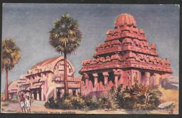 India - Madras Seven Pagodas - Tuck's Oilette - Posted Ceylon (Sri Lanka) 1923 - Inde
