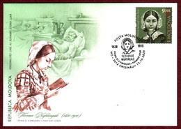 """Moldova 2020 FDC """"Personalities Who Have Changed The History Of The World. Florence Nightingale"""" Quality:100% - Moldavia"""