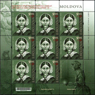 "Moldova 2020 ""Personalities Who Have Changed The History Of The World. Florenz Nightingale"" Sheet  Quality:100% - Moldavia"