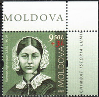 """Moldova 2020 """"Personalities Who Have Changed The History Of The World. Florence Nightingale"""" 1v Quality:100% - Moldavia"""